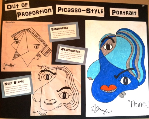 Visual Arts Exemplar - Picasso-style Portrait